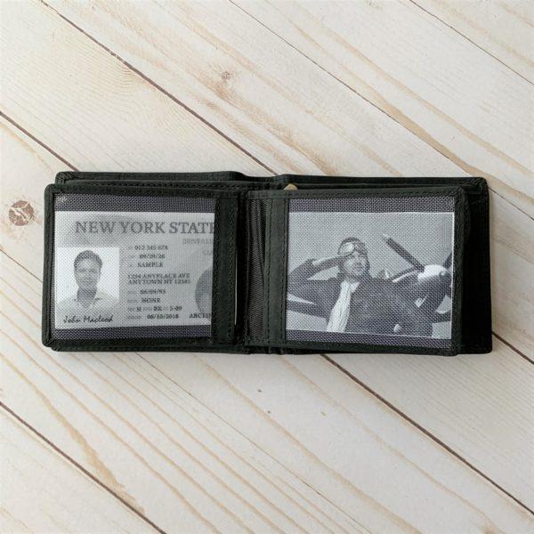 Black Aviator Wallet interior license